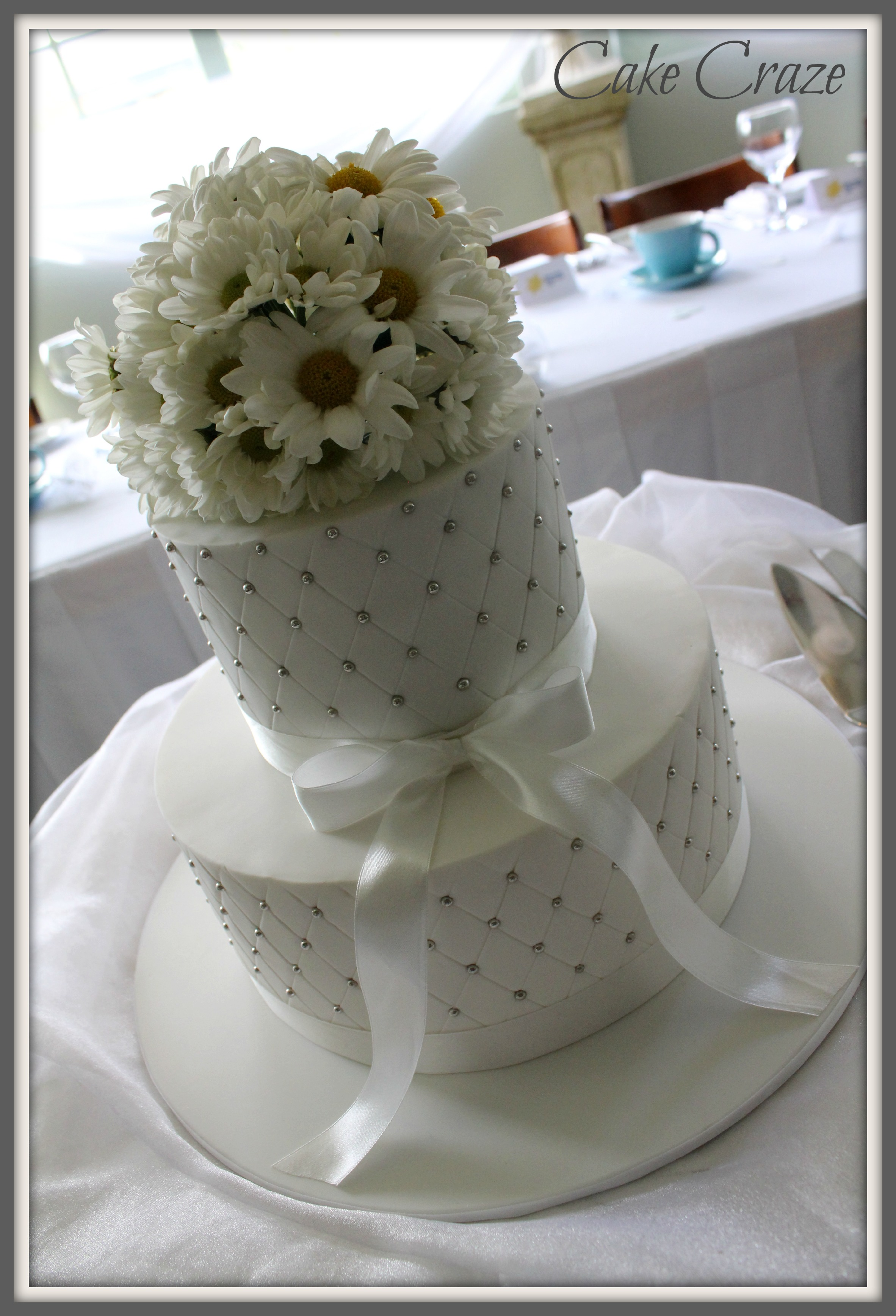 2 Tier Quilted Wedding Cake