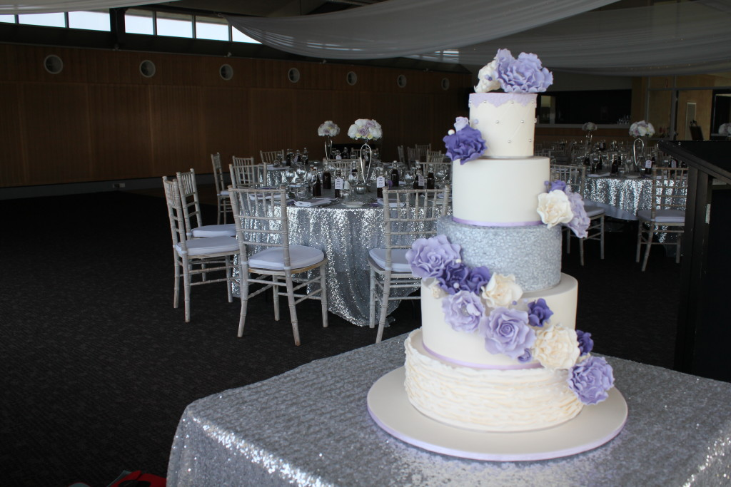 5 Tier Lavender and sequins