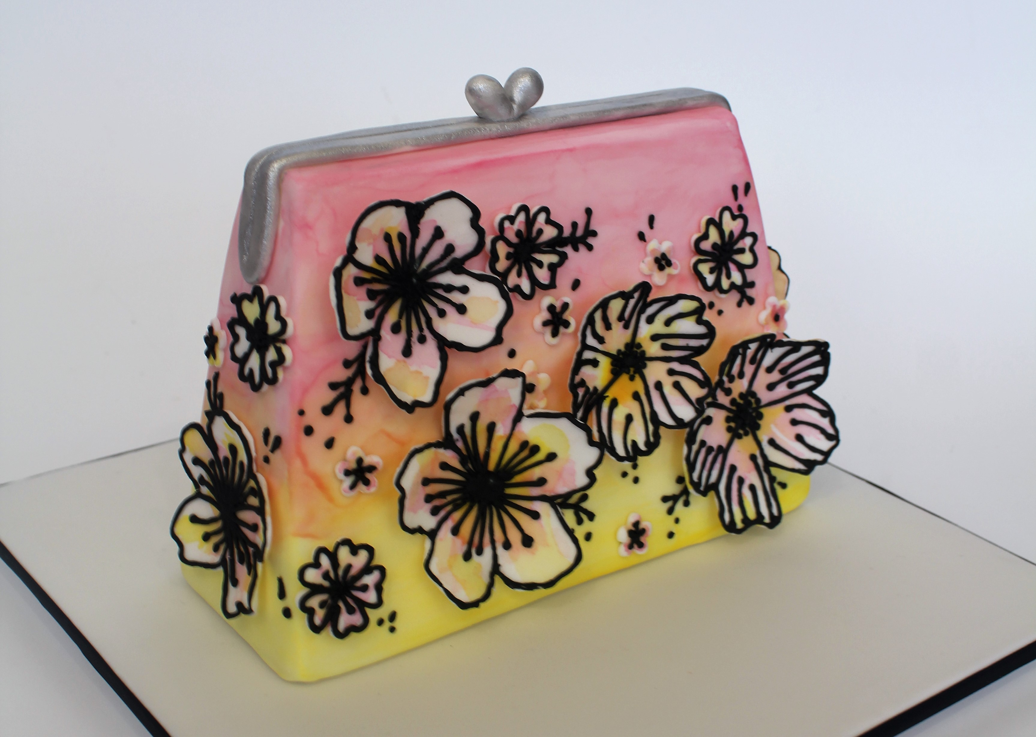 Tropical Couture Clutch Cake