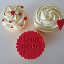 Valentine's Day Love You cupcakes